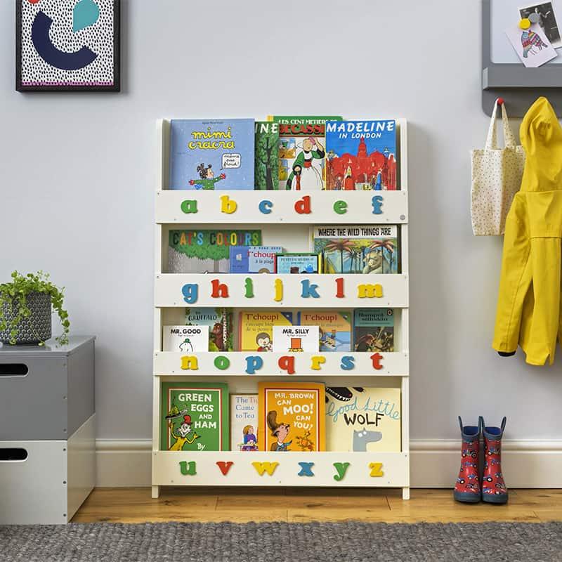 Kinder Bücherregale Alphabet mit Buchstaben | Original Tidy Books