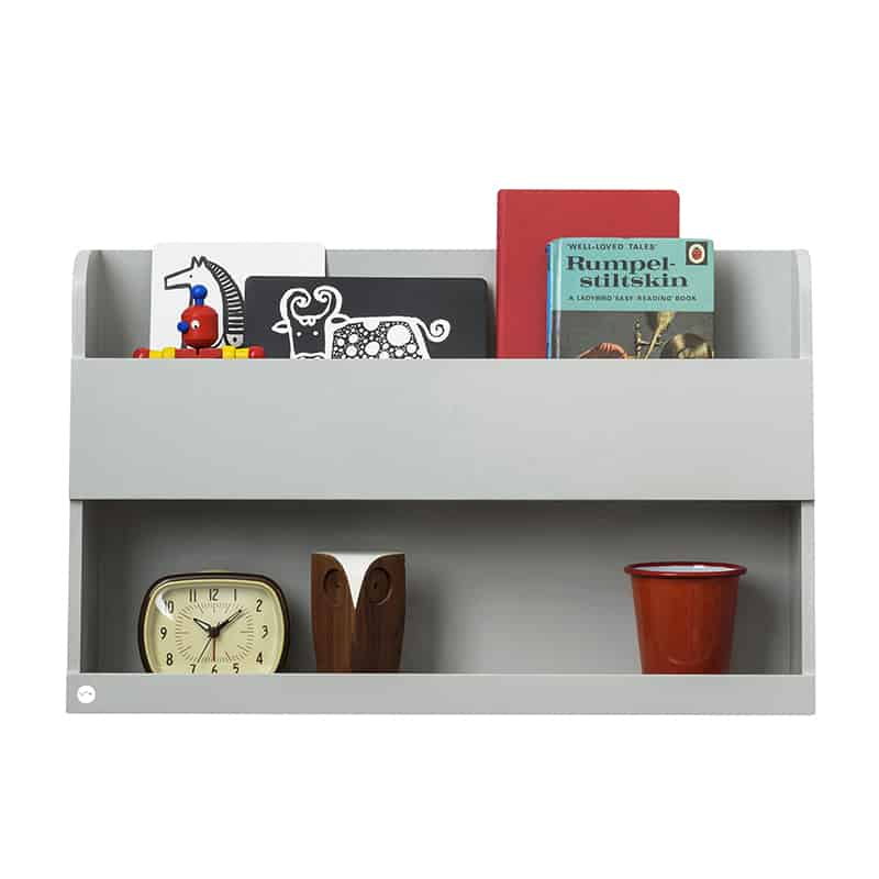 Tidy Books Bunk Bed Buddy, The Tidy Books Bunk Bed Buddy Wall Shelf, Bunk Bed Buddy, Floating Shelves for Bunk Beds, Tidy Books Bunk Bed Buddy Grey
